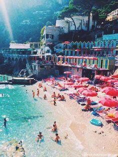 This is Capri, Italy and it is located on an island in the Bay of Naples.  This island is a very upscale place, and it is known for its elegant hotels and shopping centers. Blue Grotto is one of the islands well known natural spots. It has been a resort since the Roman Republic.