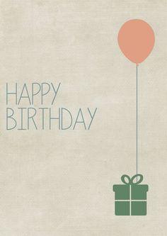 Kostenlose Geburtstagskarte zum Herunterladen und Ausdrucken: