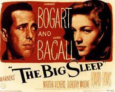 Humphrey Bogart and Lauren Bacall in The Big Sleep (1947) #oldHollywood