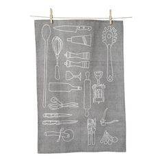 We love the illustrated look of this cotton tea towel. | $24