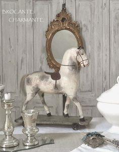 antique horse - brocante-charmante