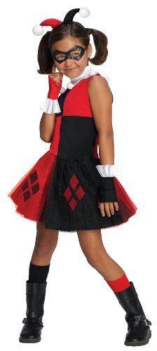 dc  super  villain  collection  Harley  Quinn  girls  costume  with  tutu  dress  medium
