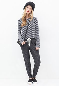 Heathered French Terry Sweatpants | Forever 21 - 2000118947