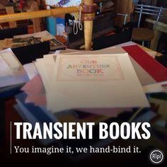 Transient Books: custom hand bound originals. Online since 2001. #handbound #guestbook #vacationhomeguestbook #weddingguestbook #handboundkournal #customblankjournal #customjournal #customdiary #bookbinding #bookbindingstudio