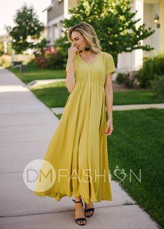 844e15078a7 Phoebe - Smoking Yellow Maxi - Nursing Friendly