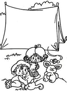 4 Desenho da Moranguinho para colorir