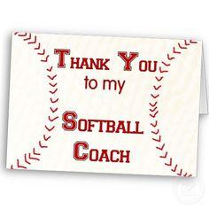 Thank you for Softball Coaches.