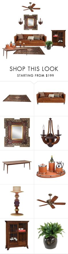 """Den"" by mandeerose ❤ liked on Polyvore featuring interior, interiors, interior design, home, home decor, interior decorating, Feiss, Dolce Vita, Emerson and DutchCrafters"