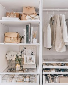 home closet inspiration and ideas for home decor room light cozy Wardrobe Organisation, Home Organization, Closet Bedroom, Bedroom Decor, Bedroom Ideas, Wardrobe Closet, Luxury Wardrobe, Closet Tour, Luxury Closet