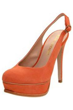 beautiful color perfect heel plus sling back heel