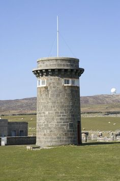 Skerryvore lighthouse signal tower, Hynish, Isle of Tiree, Scotland.