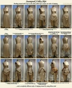How to make a steampunk utility skirt