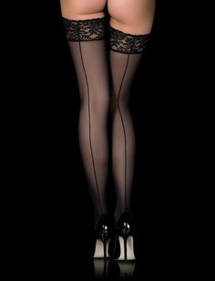db4274986 Lace Top Black Stay Up Stockings Hold Ups