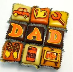 Fathers Day Dad Car Beer Heart TV Shoes Cake