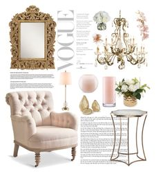 """""""Accent Chair"""" by christina-01 ❤ liked on Polyvore featuring interior, interiors, interior design, home, home decor, interior decorating, MANGO, Kate Spade and Diane James"""