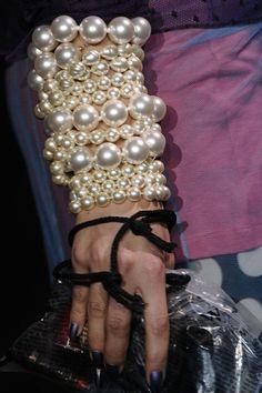 dries van noten pearl bracelet