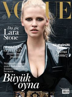 Lara Stone on Vogue Turkey October 2016 Cover