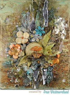 Forever Green    Art Mediums = Mixed-Media Heaven! Project by Fran Westmoreland for Prima - Finnabar - Prima Projects.