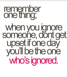 Dont get ignored