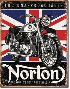 #Norton Motorcycle Bike British Parts Engine Garage Shop Poster Picture Tin Sign