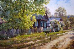 Артамонов Валерий. 1963 г.р. Деревенская улица. 2014
