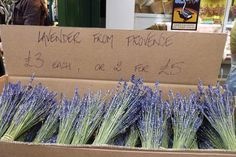 Lavender from Provence sold at Borough market in Southwark, London www.mylondonwalks.co.uk