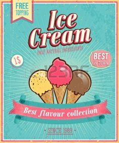 Ice Cream Vintage Cliparts, Stock Vector And Royalty Free Ice Cream Vintage Illustrations