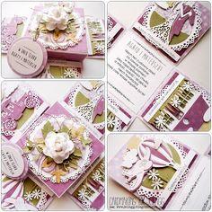 Cardmaking by jolagg: Pudełko ślubne z życzeniami od serca
