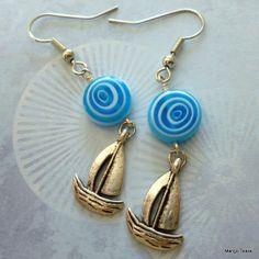 Sail Away Earrings by MangoTease on Etsy, $10.00