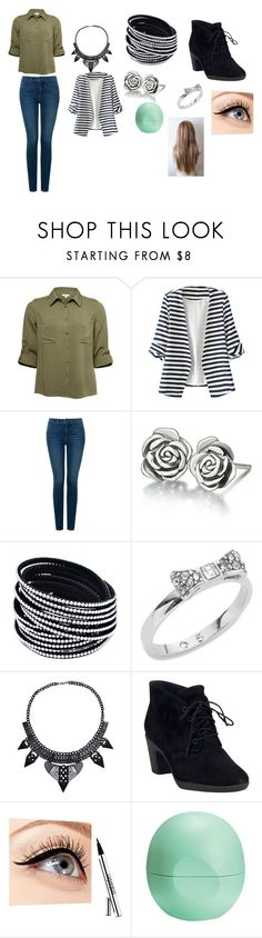 """aRMy GrEEn"" by phoridavies on Polyvore featuring WithChic, NYDJ, Chamilia, Kate Spade, Clarks, Luminess Air and Eos"