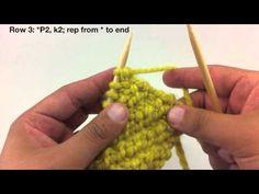 The Oblique Rib Stitch :: Knitting Stitch :: New Stitch A Day