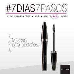7 días de la semana, 7 pasos para un look perfecto. #Jueves #7Días7Pasos #Máscara #Pestañas #MaryKay