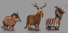 Sketches done for a funny TV ad Legendary Monsters, Fantasy Characters, Giraffe, Rooster, Concept Art, Steampunk, Sci Fi, Sketches, Funny