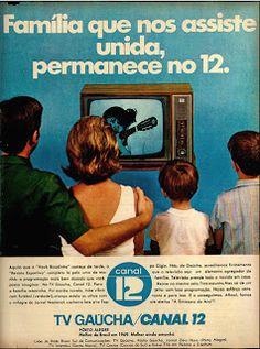 Anúncio TV Gaucha - 1970