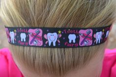 Black and Pink Tooth Fairy Headband for Dental by BrushFlossDazzle