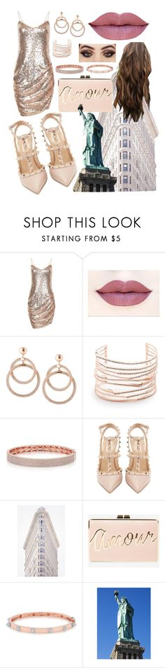 """""""NYC • Cocktail Party • Rose Gold"""" by mackenzierivera ❤ liked on Polyvore featuring Alexis Bittar, Valentino, BCBGMAXAZRIA and Anne Sisteron"""