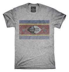 Retro Vintage Swaziland Flag T-Shirts, Hoodies, Tank Tops