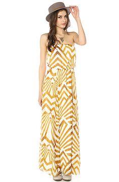 The Imelda Pyramid Maxi Dress in Gold by BB Dakota