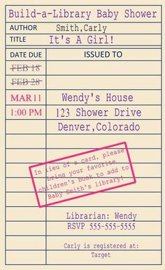 library card template for seating arrangements with name of book
