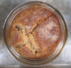 Snickerdoodle Cake-in-a-Jar :  This moist dense cake with a coffeecake-like texture is a celebration of all things cinnamon! | The Monday Box