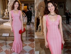 Olga Kurylenko In Azzedine Alaia - 'Liaisons Au Louvre III' Charity Gala Dinner via @Fashion_Critic
