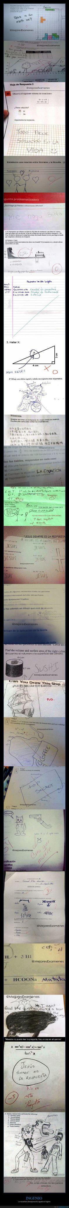 Las respuestas más ingeniosas de niños en exámenes - La necesidad (desesperación) agudiza el ingenio