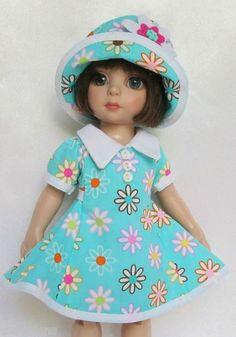 """OOAK Patsy's Delightful Daisies for 10"""" Ann Estelle etc Made by Ssdesigns 