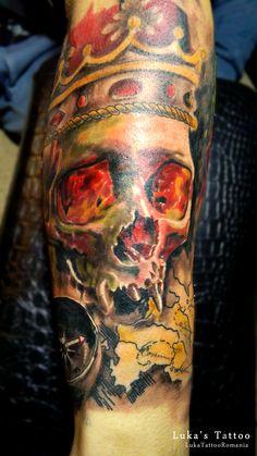Tatuaje cu cranii! Tatuaje Realizate in Romania Watercolor Tattoo, Tattoos, Tattoo, Tatuajes, Watercolor Tattoos, Japanese Tattoos, Tattoo Illustration, Temp Tattoo, A Tattoo