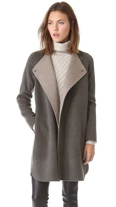 Fall Coats: Vince Asymmetrical Shirttail Coat. www.topshelfclothes.com