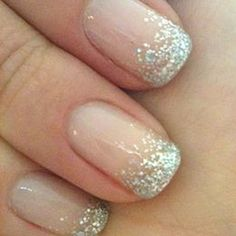 Wedding nails french manicure natural 40 Ideas for 2019 French Nails, Glitter French Manicure, Gold Nails, Sparkly Nails, Gel French Tips, Wedding Manicure, Wedding Nails For Bride, Bride Nails, Wedding Gold