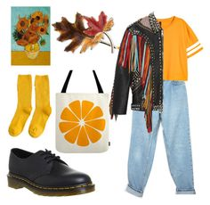 """""""Untitled #16"""" by ponjavidze ❤ liked on Polyvore featuring Levi's, Dr. Martens, Gucci and Anne Klein"""