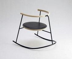 NOBU chaise à bascule par Rasmus Warberg danish design chair steel Chair Design, Furniture Design, Plywood Furniture, Beauty Chair, Deco Design, Take A Seat, Modern Materials, Ikea Hacks, Danish Design