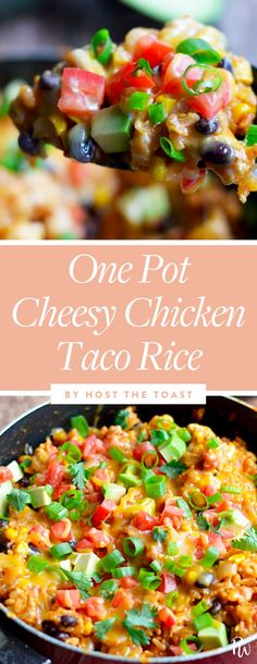 Life Hacks : Illustration Description One Pot Cheesy Chicken Taco Rice. 19 Quick and Easy Ground Chicken Recipes -Read More – Ground Chicken Recipes Easy, Ground Chicken Tacos, Easy Chicken Dinner Recipes, Best Chicken Recipes, Recipes Dinner, Dinner Ideas, Chicken Teriyaki Rezept, Mexican Food Recipes, Healthy Recipes