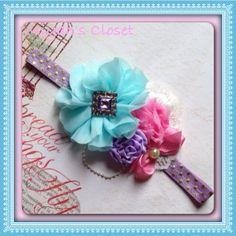 Tea Party Headband Vintage Headband Princess Party by MiyahsCloset, $13.99